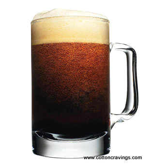 Root beer in a mug
