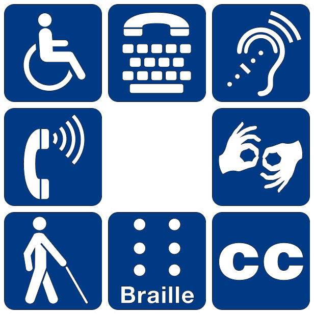 Images of disability symbols